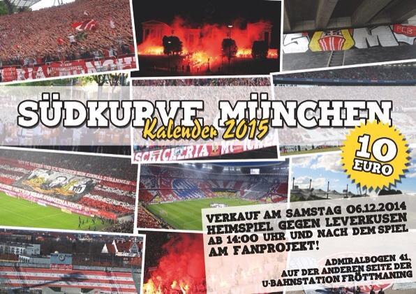 Südkurve München Kalender 2015