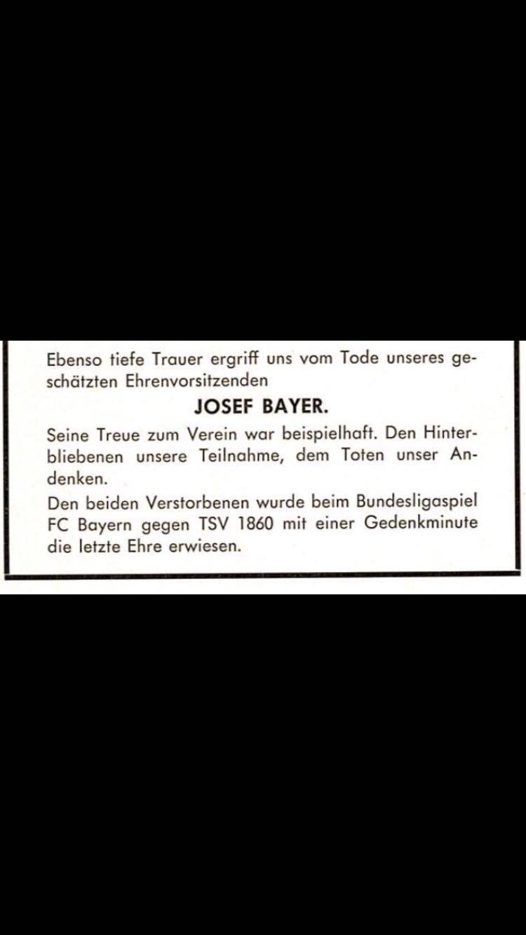 Josef Bayer - Traueranzeige