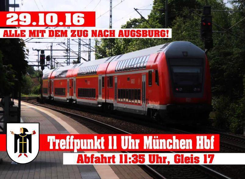 Zugfahrt Augsburg
